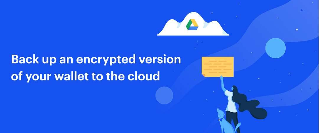 Back up an encrypted version of your wallet to Google Drive with Coinbase Commerce